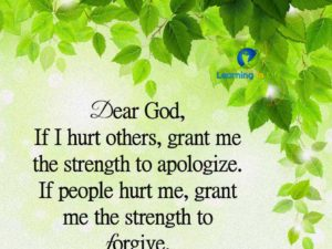 Strength to Apologize and Forgive