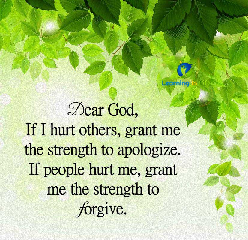 Photo of Strength to Apologize and Forgive
