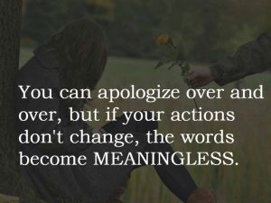 Apologize Over & Over