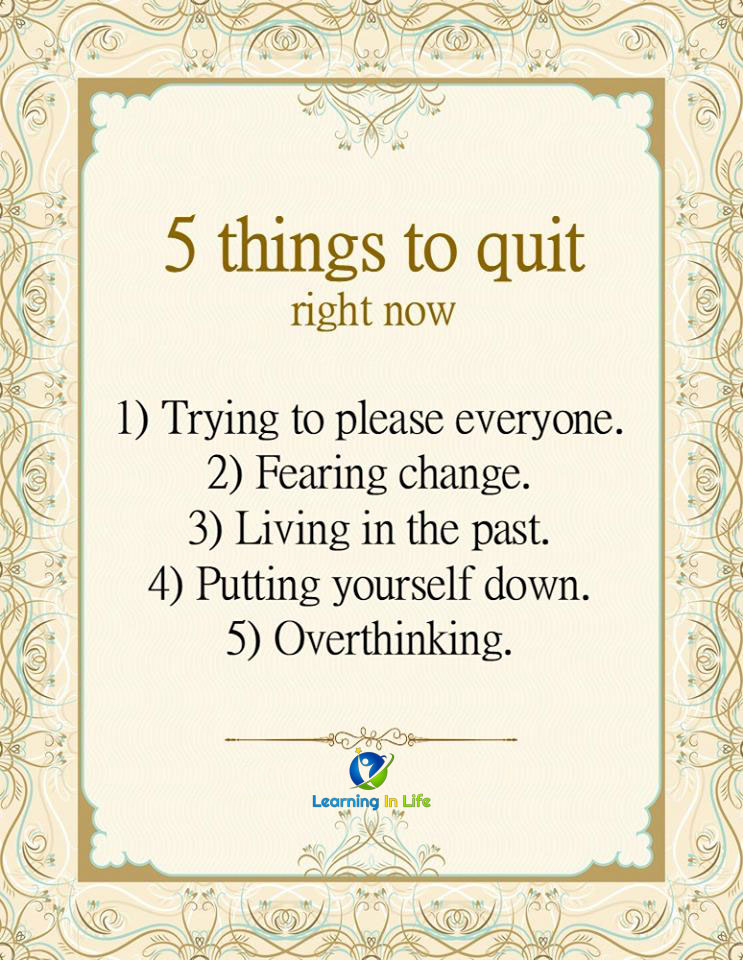 Photo of 5 Things To Quit Right NOW.