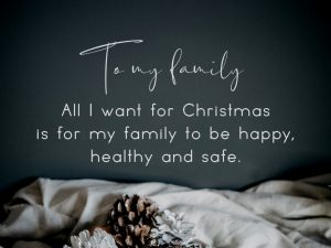 To my family