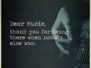Dear Music…