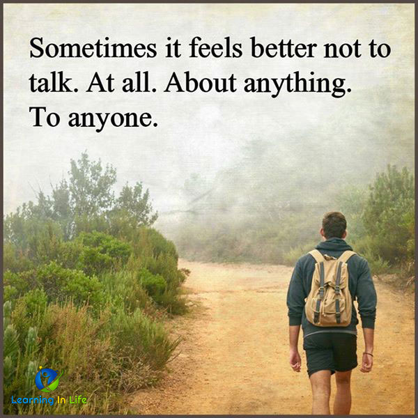 Photo of Sometimes it feels better not to talk