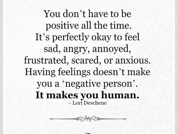 It makes you human.