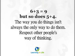 Respect Other Ways of Thinking