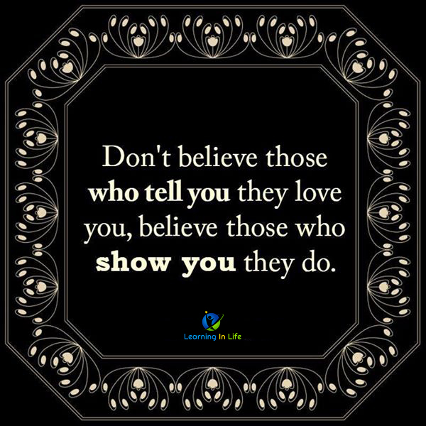 Photo of Believe Those Who Show You They Do