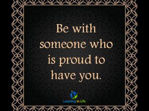 Proud to have you