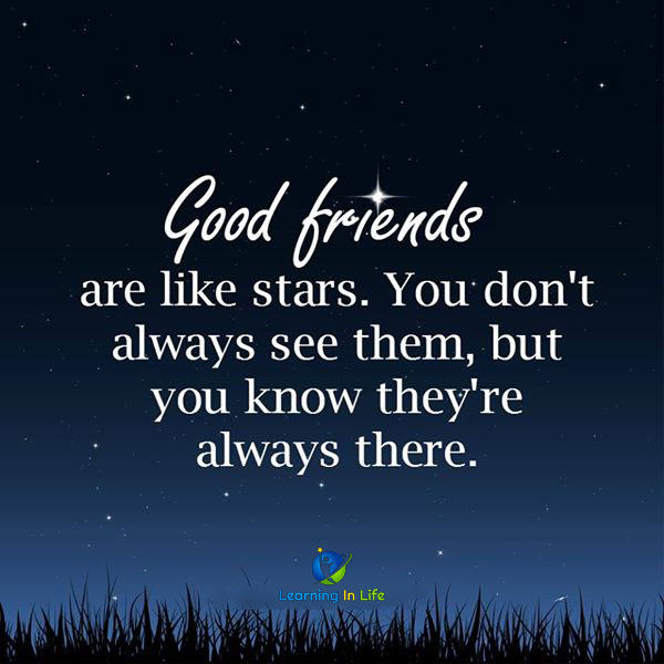 Photo of Good friends are like stars