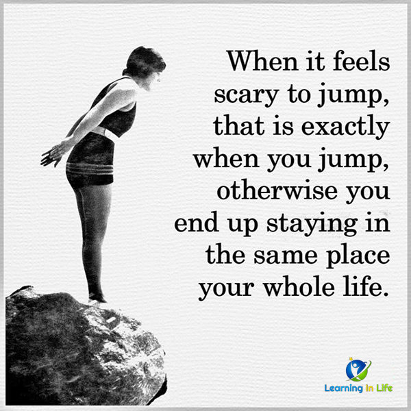 Photo of When it feels scary to jump!