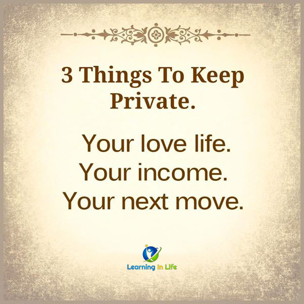 Photo of 3 Things To Keep Private