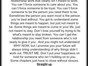 Stop breaking your own heart
