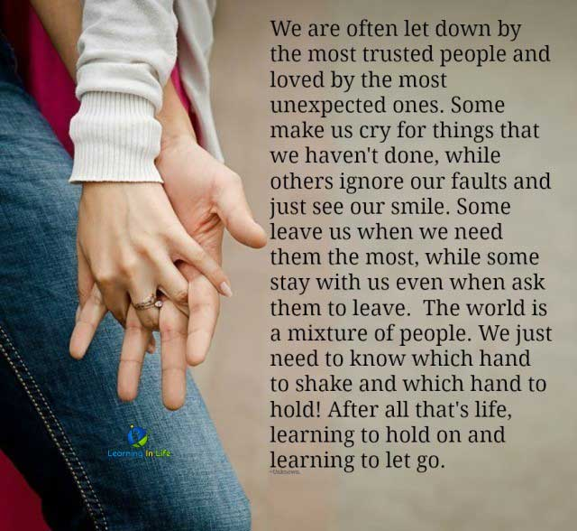 Photo of Learning to hold on…. and learning to let go.