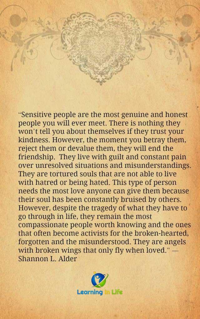 Photo of Sensitive People