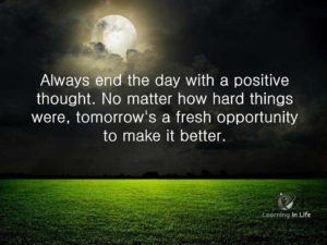 Tomorrow is a fresh opportunity