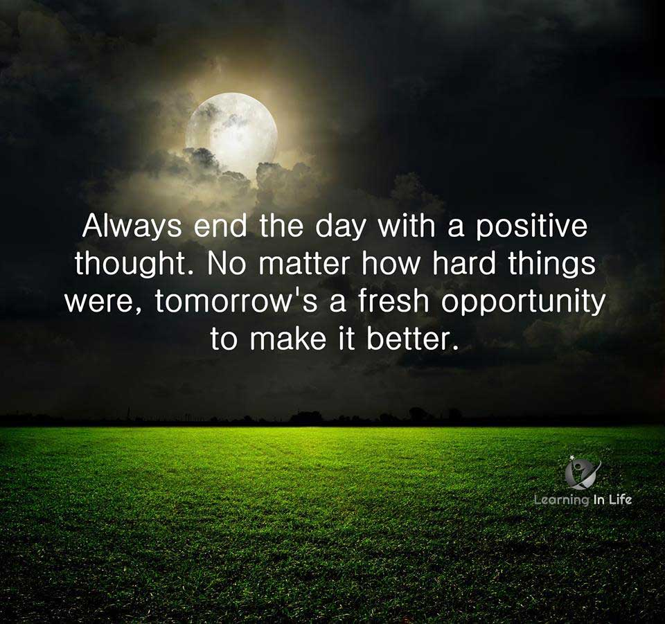 Photo of Tomorrow is a fresh opportunity