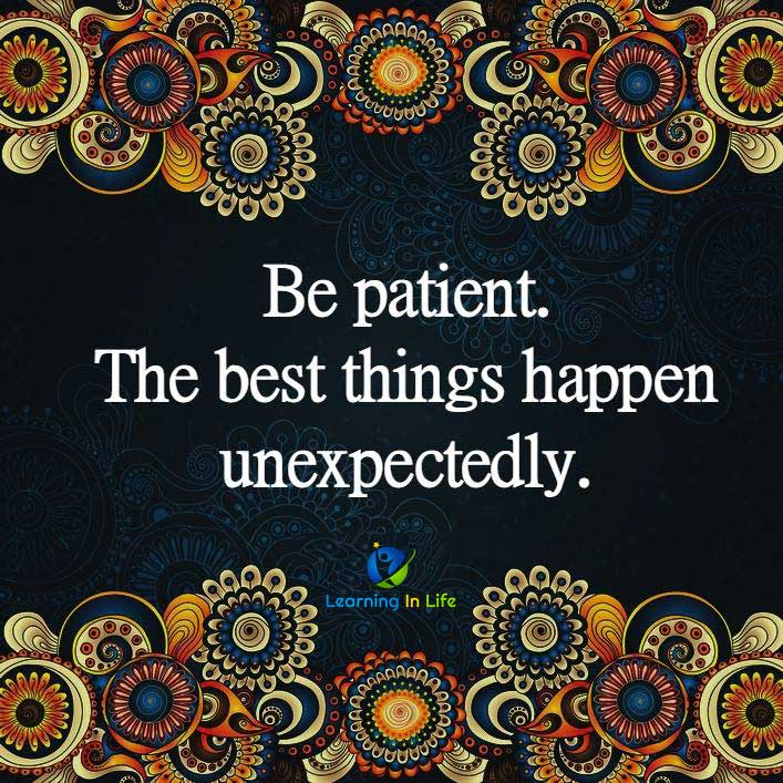 Photo of Be Patient