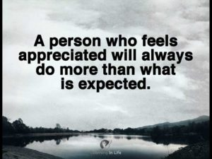 Feels Appreciated