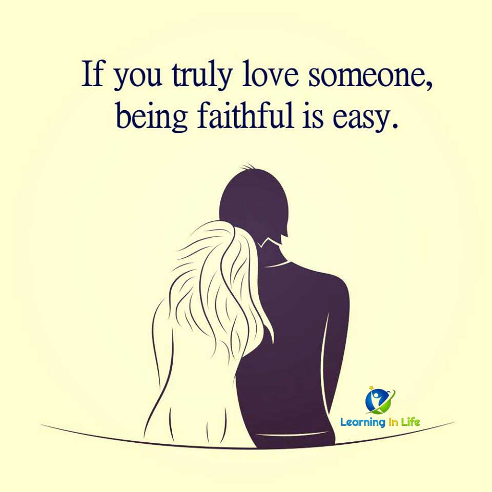 Photo of Being Faithful Is Easy.