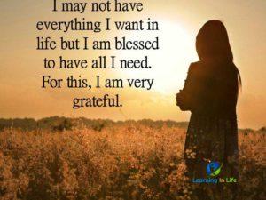 I Am Very Grateful