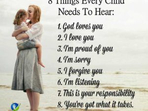 8 Things Every Child Needs To Hear