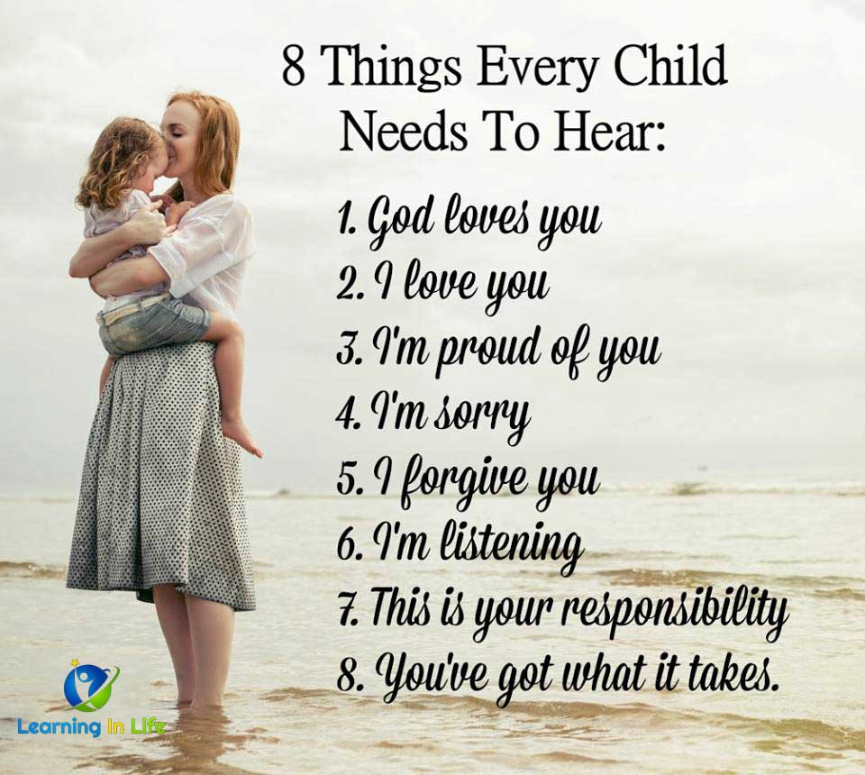 Photo of 8 Things Every Child Needs To Hear