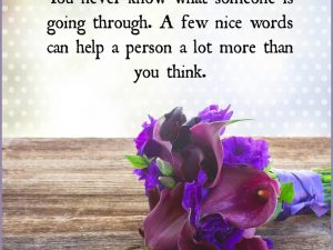 A Few Nice Words