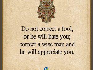 Do Not Correct A Fool