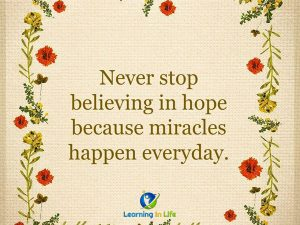 Miracles happen everyday.