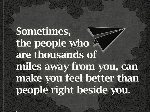 Sometimes distance doesn't matter