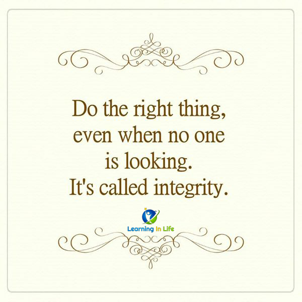 Photo of It's called integrity