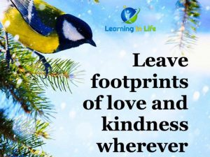 Footprints of love & kindness