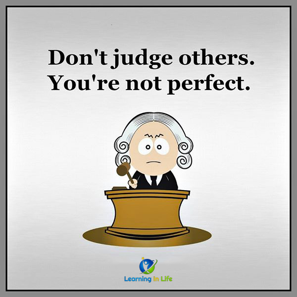 Photo of Don't judge others