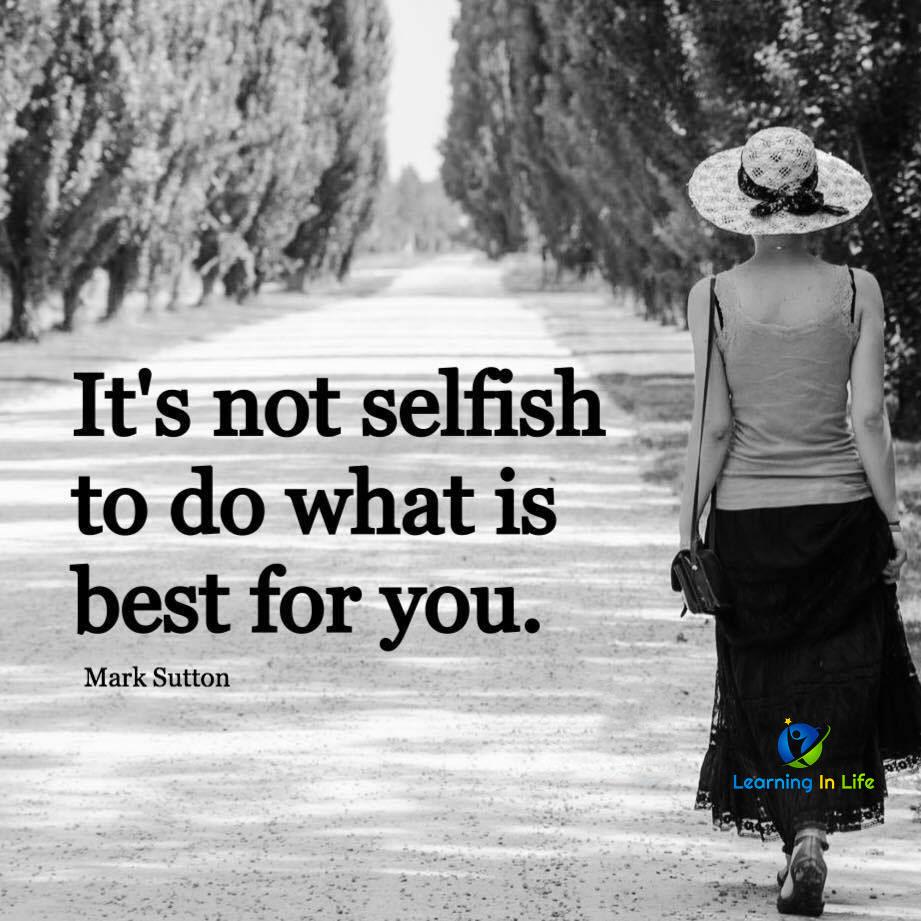 Photo of It's Not Selfish