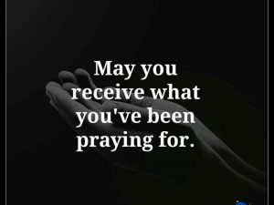 What you've been praying for.