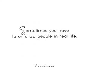 Unfollow people in RL