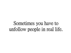 Unfollow people in the RL