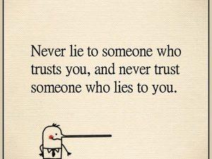 Never Lie, Never Trust