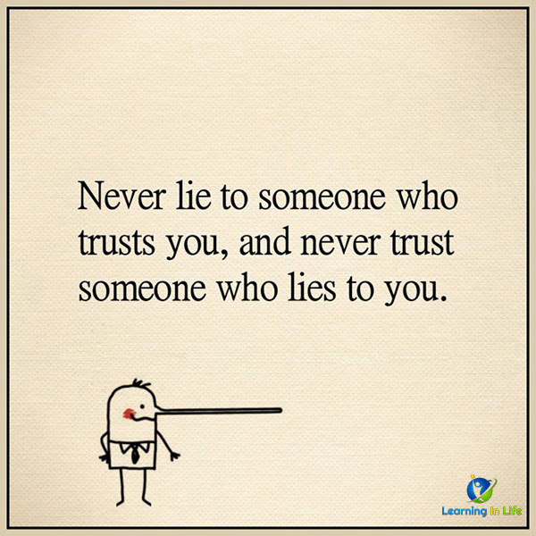 Photo of Never Lie, Never Trust