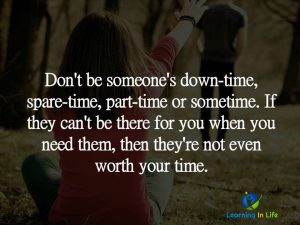 Don't be someones…