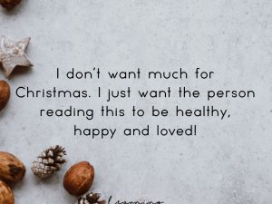 For Christmas…