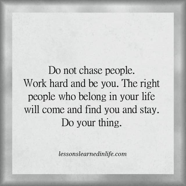 Photo of Do not chase people