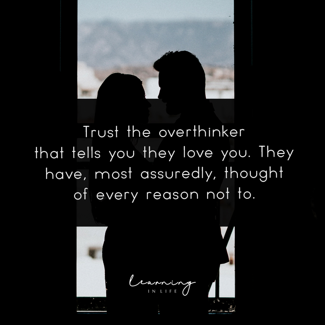 Photo of Trust the overthinker