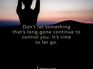It's time to let go