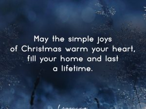 The simple joys of Christmas…