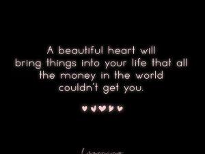 A beautiful heart…