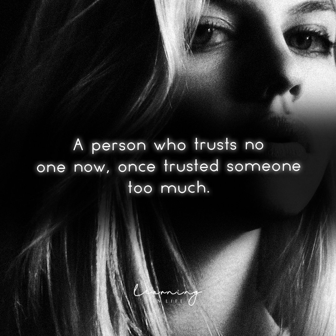 Photo of A person who trusts no one now…