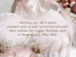 Wishing you all a joyful present and a well remembered past.