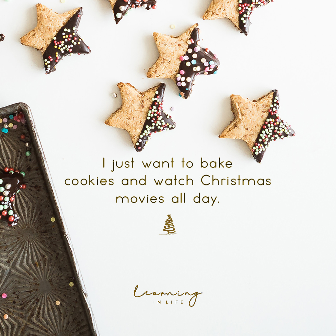 Photo of I just want to bake cookies and watch Christmas movies all day…