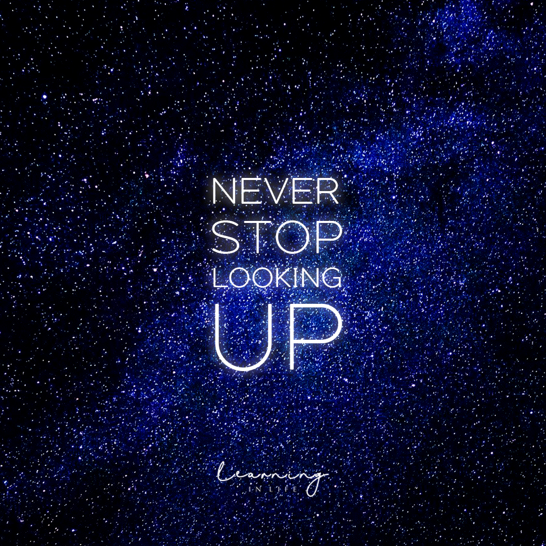 Photo of Never stop looking up.