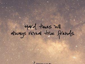 Hard times…